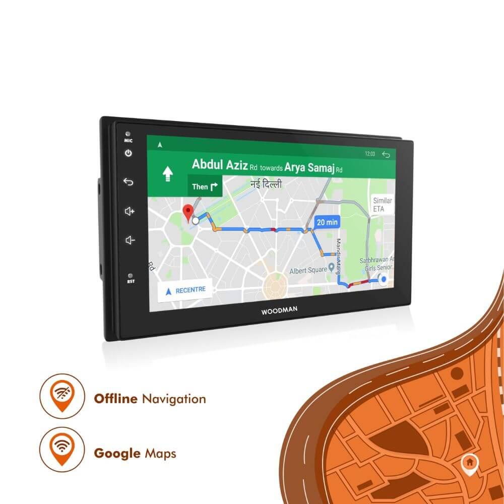 Woodman BIG B Gold Android Stereo for Hyundai Xcent/i10 Grand (4G SIM SLOT/DSP) (2GB / 32GB)