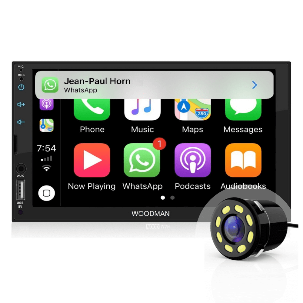 Woodman Sayi MP5 Voice Controlled Car Stereo CarPlay & Android Auto with Camera