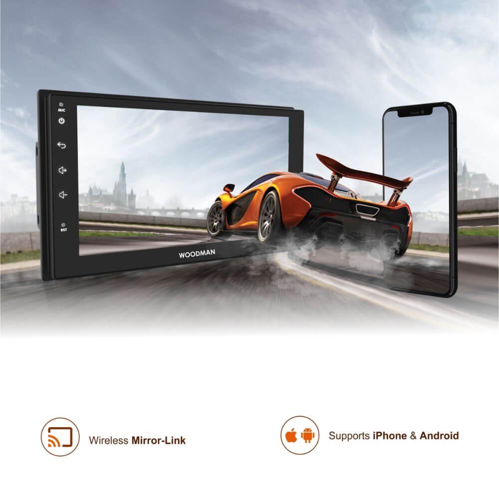 "Woodman BIG B Android 8.0 Stereo for Honda New Amaze 2018 (2 GB/ 16 GB)- 9"" HD Display"