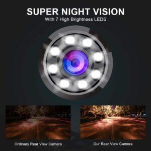 Woodman Car Rear View Camera with Night Assist (For Hyundai Creta)