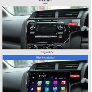 Woodman BIG B Gold Android 8.1 Stereo for New Honda Jazz (4G SIM SLOT/DSP DOLBY SOUND) (9 inch HD Display (2GB / 32GB)
