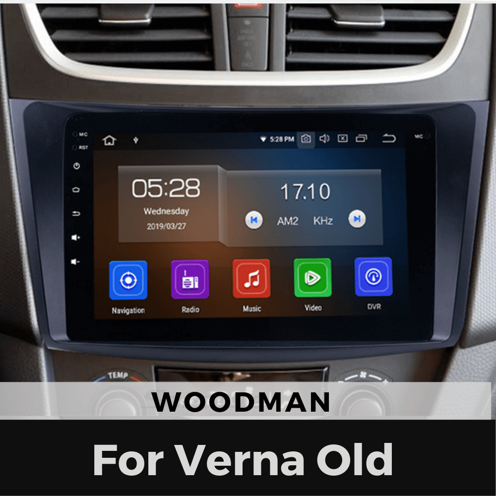 Woodman Android Stereo for Hyundai Verna Fluidic (2011-16) with 9 Inch (2GB/16GB)